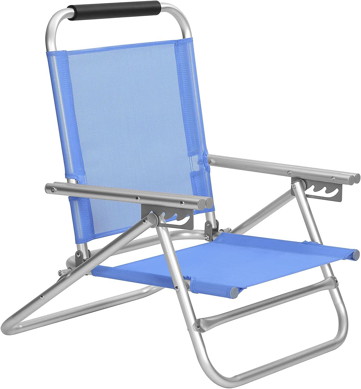 Porte-Verres Vert GCB09AG Cadre Stable capacit/é de Charge 150 kg Si/ège Pliante avec accoudoirs SONGMICS Chaise de Camping Pliable Appui-t/ête ext/érieur