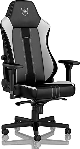noblechairs Hero Gaming Chair – Office Chair – Desk Chair – PU Leather – 330 lbs – 125 Reclinable – Lumbar Support – Racing Seat Design – Limited Edition 2019 – Black White – NO PILLOWSET