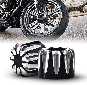 Tuincyn Schwarz Motorrad Vorderachse Abdeckkappe Mutter Bolt Hardware Kit Verwendet Für Harley Xl883 Xl1200 X48 Modelle Cnc Motorrad Vorne Dekoration Zubehör 1 Set Auto