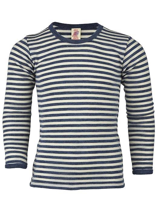 Niños de camiseta manga larga de KBT de merino lana virgen, geringelt, ivn Best