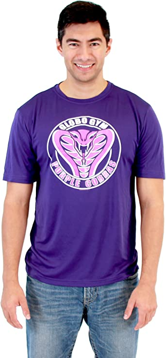 Adult Comedy Movie Dodgeball Purple Cobra Gym Performance Costume T-Shirt Tee