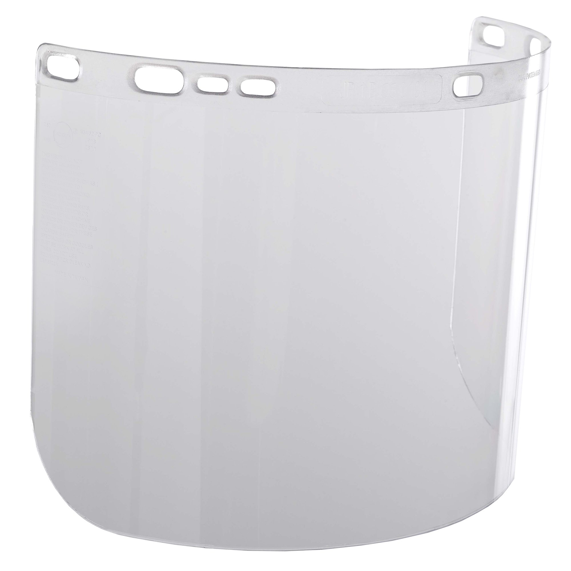 """Jackson Safety F20 High Impact Face Shield (14132), Polycarbonate, 8"""" x 15.5"""" x 0.06"""", Clear, Face Protection, Unbound, 36 Shields / Case"""