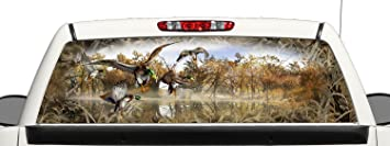 Amazoncom Truck SUV Bow Mallard Duck Hunting Grassland Camo Rear - Rear window hunting decals for trucks