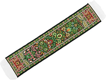 Melody Jane Dolls House Green /& Red Turkish Woven Carpet Runner Miniature Rug 1:12 Scale