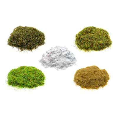 Stonehaven Miniatures Set of 5 Base & Scenery Flocks - Master Quality - Spring, Summer, Autumn, Dry Brown Static Grass (2mm) & Snow Flock for 28mm Scale War Game Miniatures - Made in USA: Toys & Games
