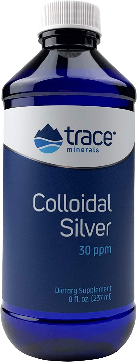 Trace Minerals Research Vegan Colloidal Silver, Bio-Active Silver Hydrosol Liquid Mineral Supplement, Natural & Pure, 30 PPM, 8 fl. Oz: Health & Personal Care