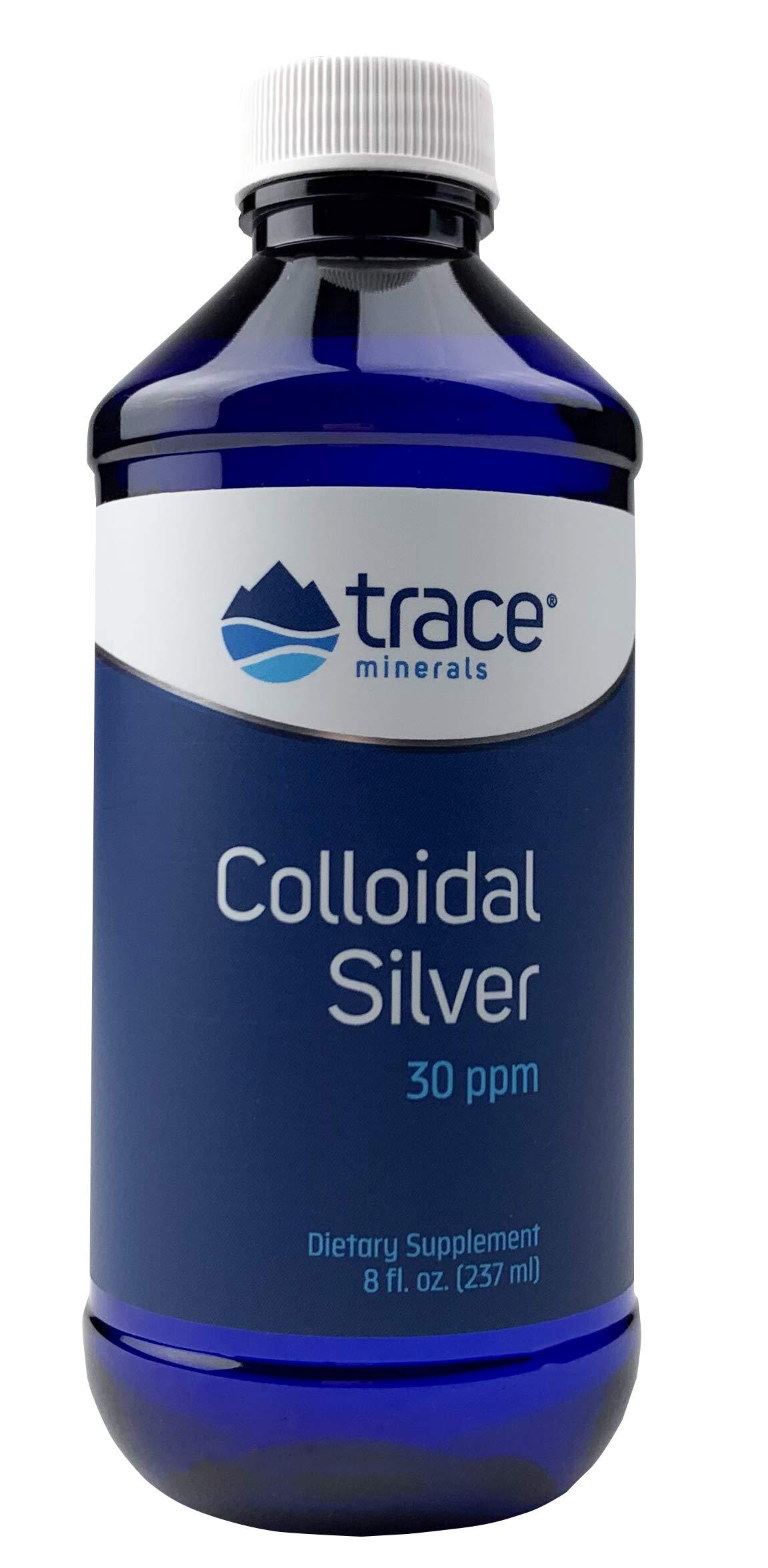 Trace Minerals Research Vegan Colloidal Silver, Bio-Active Silver Hydrosol Liquid Mineral Supplement, Natural & Pure, 30 PPM, 8 fl. Oz