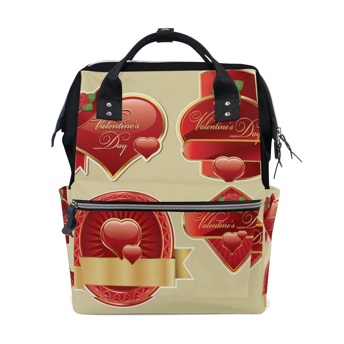 Backpack School Bag Wedding Heart Love Rose Canvas Travel Doctor Style Daypack
