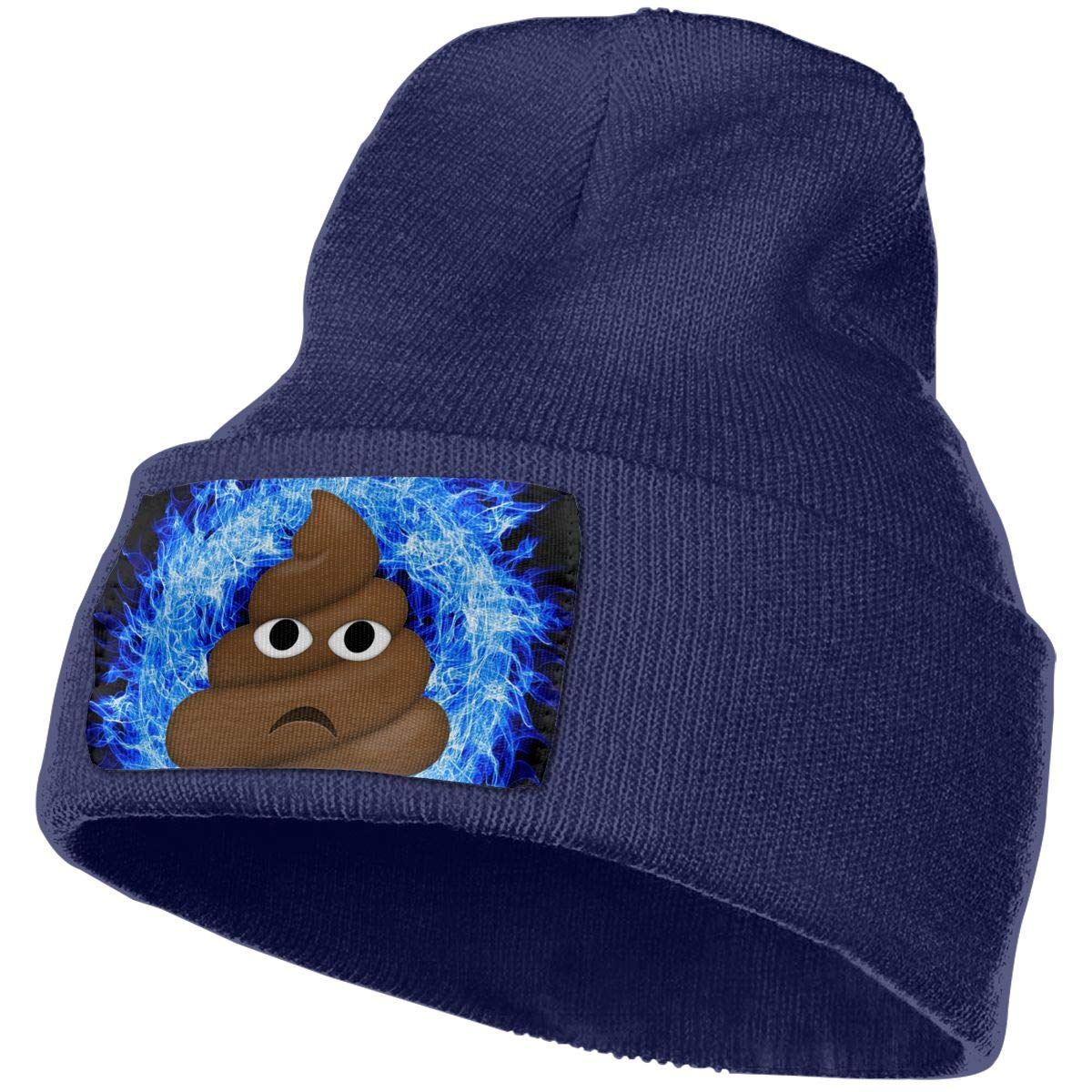 Poop Emoji Shit Men/&Women Warm Winter Knit Plain Beanie Hat Skull Cap Acrylic Knit Cuff Hat