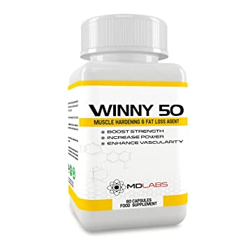 MD Labs Winny 50® - Testosterone Booster & Anabolic Fat Loss Compound/Legal  Muscle Growth Agent / 30 Days Supply