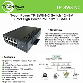Tycon Systems POE-PowerTap Poe To Wire Terminal Adapter