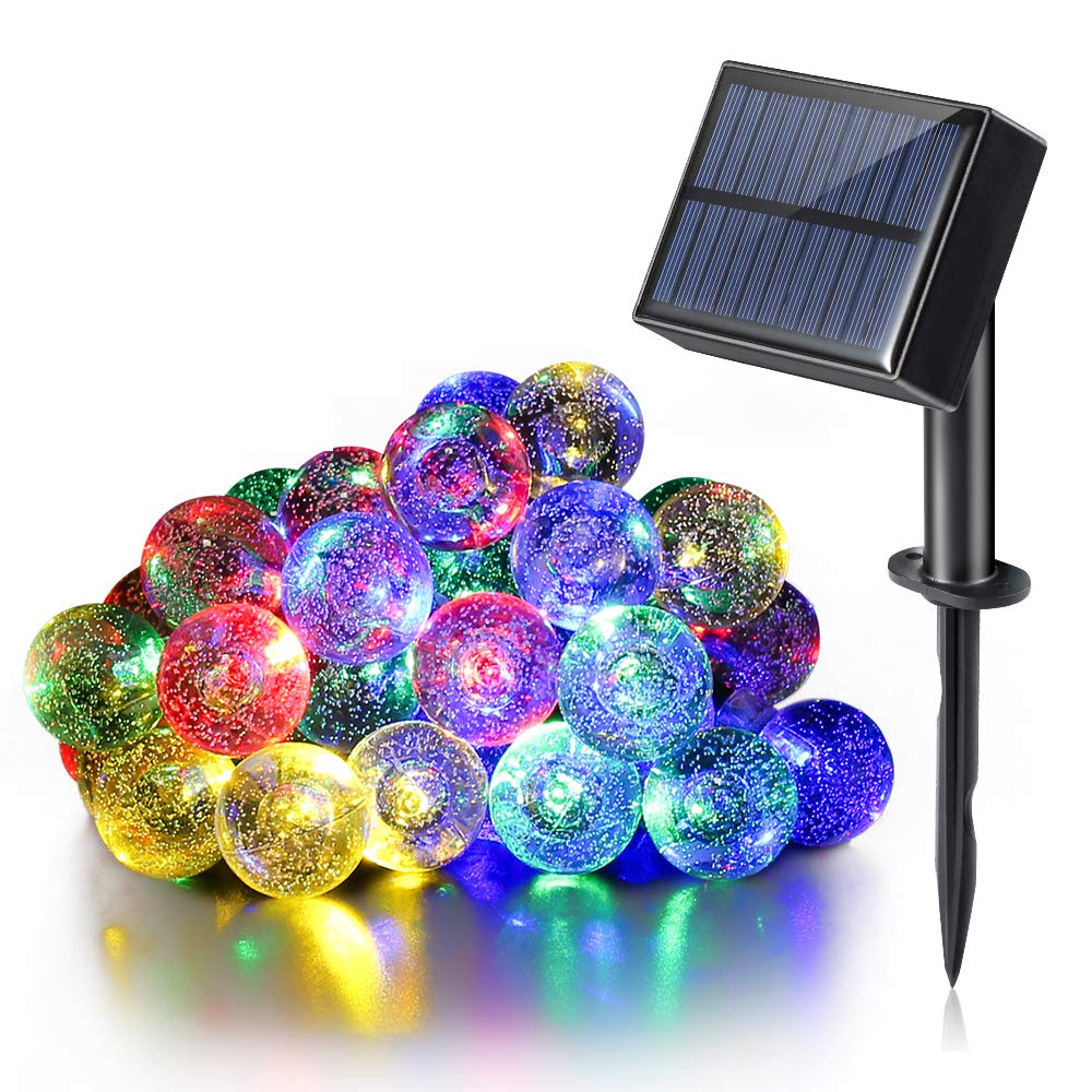 Luce Solare da Esterno, Stringa (8 Modalità ) con Ingresso USB, Doppia Funzione di Ricarica, 30 led e 6,5 mt, Resistente all'acqua, luci Decorative Per Giardino, Decorazioni Natalizie (Color Multi) Stringa (8 Modalità) con Ingresso USB Cheersbang