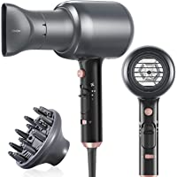 Ionic Blow Dryer Hair Dryer with Powerful 1875W Motor for Men and Women Professioanl Hair Dryer Quiet with Diffuser for…