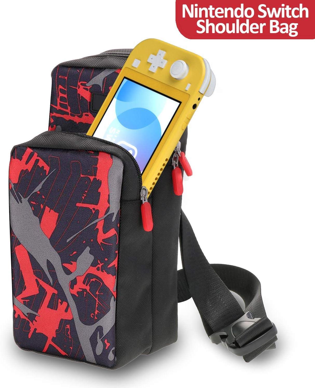Bolsa Bandolera Nintendo Switch Switch Lite Nintendo Switch Travel Bag for Nintendo Switch Transporte Bandolera Pecho Mochila Cruzada para Nintendo Switch, Dock, Joy-Con Grip&Switch Accesorios Ipad: Amazon.es: Videojuegos