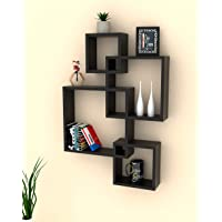 Onlineshoppee Rafuf Intersecting Floating Wall Shelf with 4 Shelves