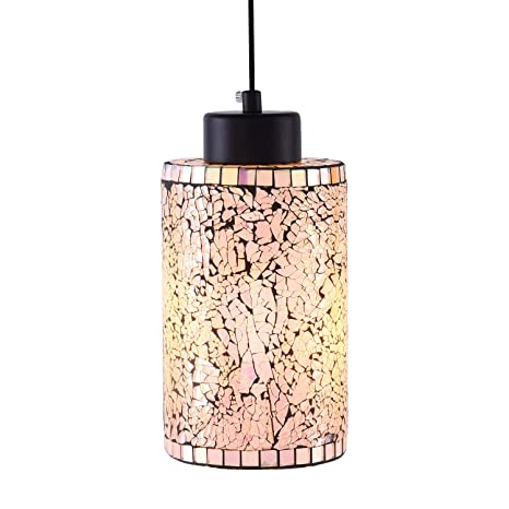 Modern Mini Pendant Light Hand Crafted Mosaic Color Glass Shade Hanging  Lamp, Decorative Colorful Pendant Lighting for Kitchen Island Dining Room  Bar ...