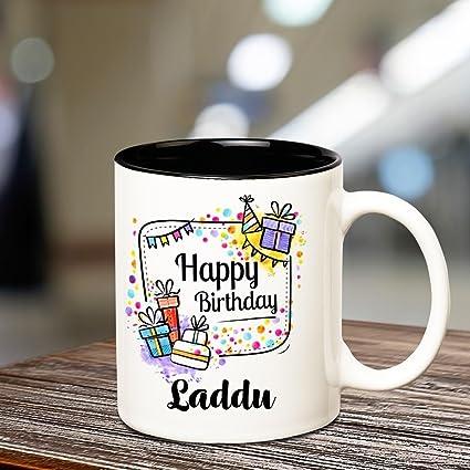 buy huppme happy birthday laddu inner black coffee name mug online