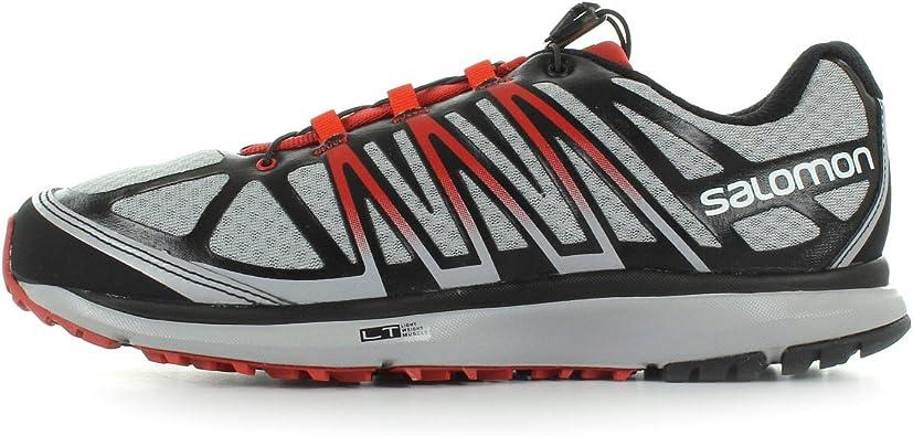 Salomon X-CELERATE Zapatillas Gris Negro Rojo Trail Running para Hombre: Amazon.es: Deportes y aire libre