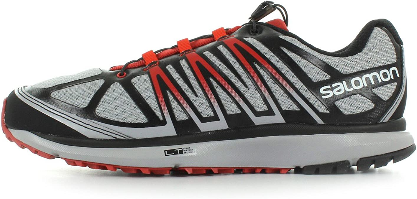 Salomon X-CELERATE Zapatillas Gris Negro Rojo Trail Running para ...
