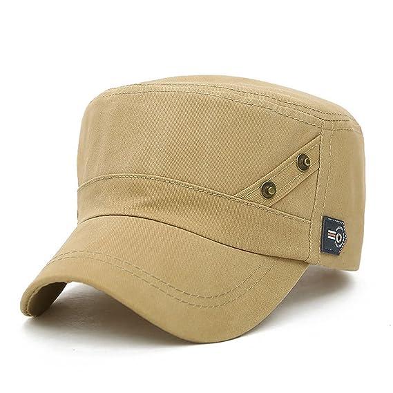 b4833266574 King Star Men Women Adjustable Army Plain Vintage Hat Cadet Military  Baseball Cap Beige