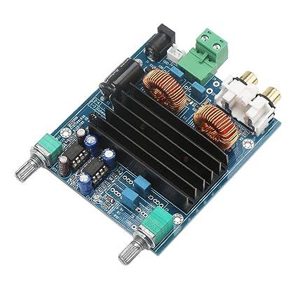 Digital Amplifier Board, DROK Mono Channel Amplify Chip DC 12V-24V Class-D  100W Subwoofer Single Channel Full Range Bass Digital Audio Amp Module with
