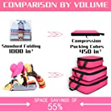 Compression Packing Cubes for Travel Expandable