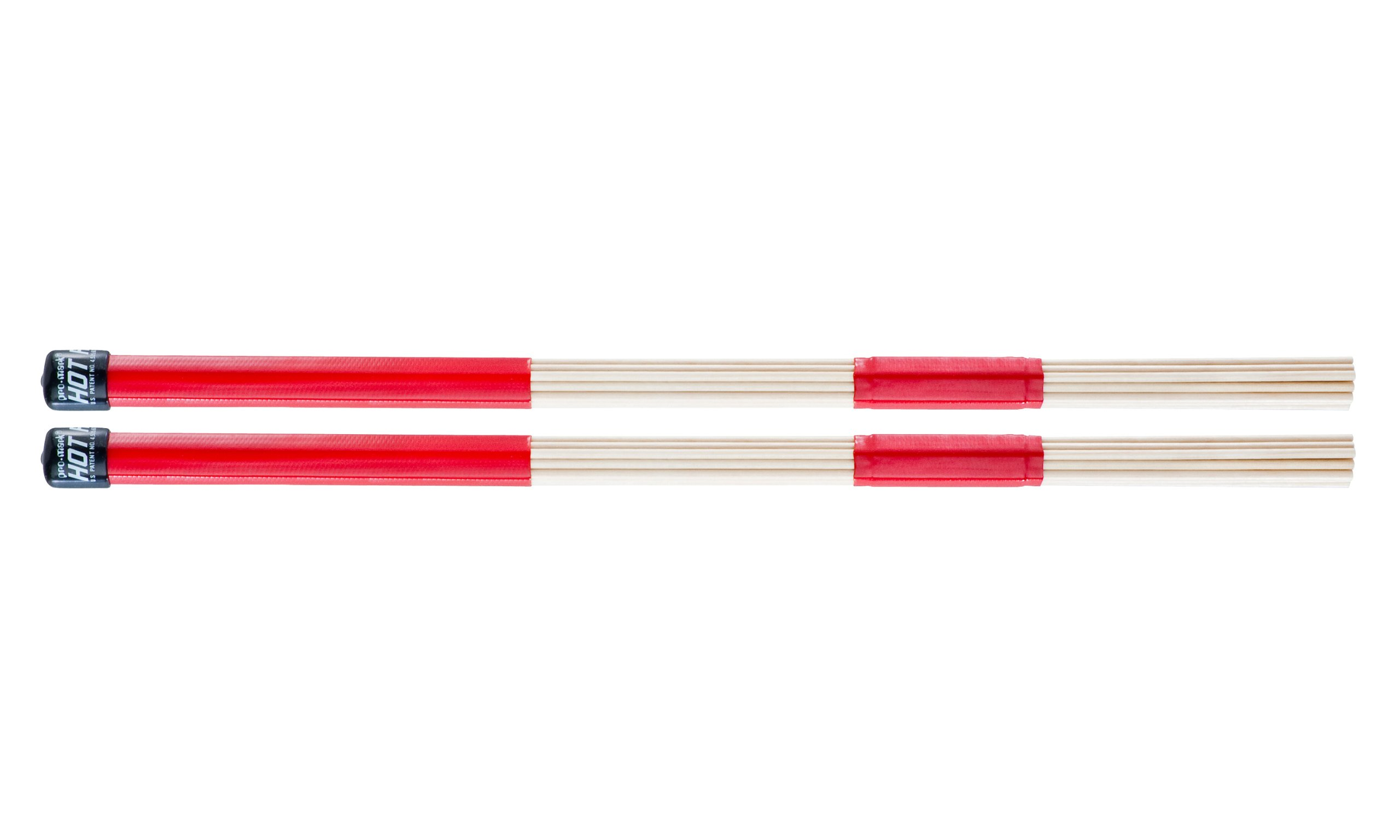 """Promark H-RODS Hot Rods Drumsticks (1 Pair) – Smooth Grip for Easy Playability – Constructed of 19 Birch Dowels – Perfect for Small Venue and Acoustic Performances, .550"""" Diameter, 16"""" Long"""