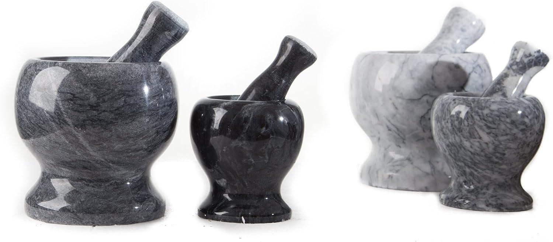 diam/ètre int/érieur 9 cm avec pilon 1,5 kg Blanc Mortier noble en marbre id/éal en cadeau pr/écieux /Ø x H : environ 10 x 11 cm