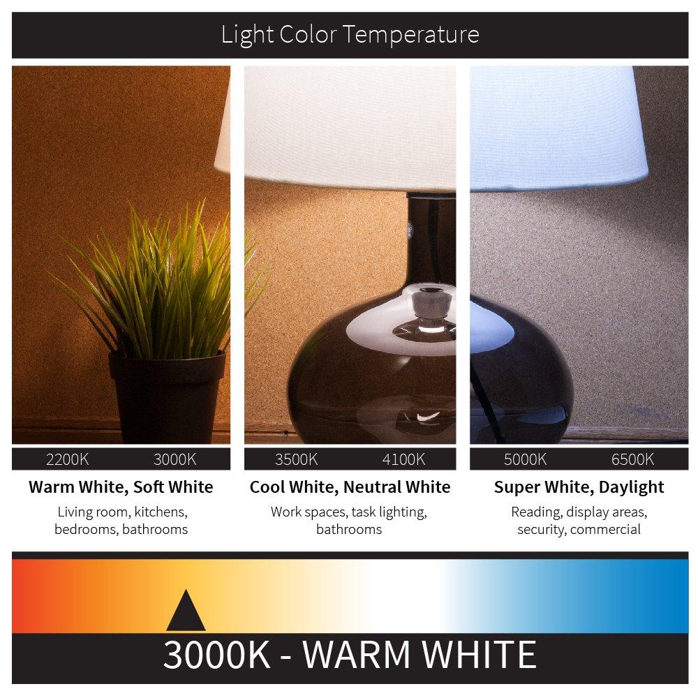 Sunlite LFX//AM//23//M//E//D//40K 16-Inch Cool White Light 23-watt 120-volt Energy Star Dimmable LED Mushroom Style Fixture with Acrylic Lens White Finish Sunshine Lighting