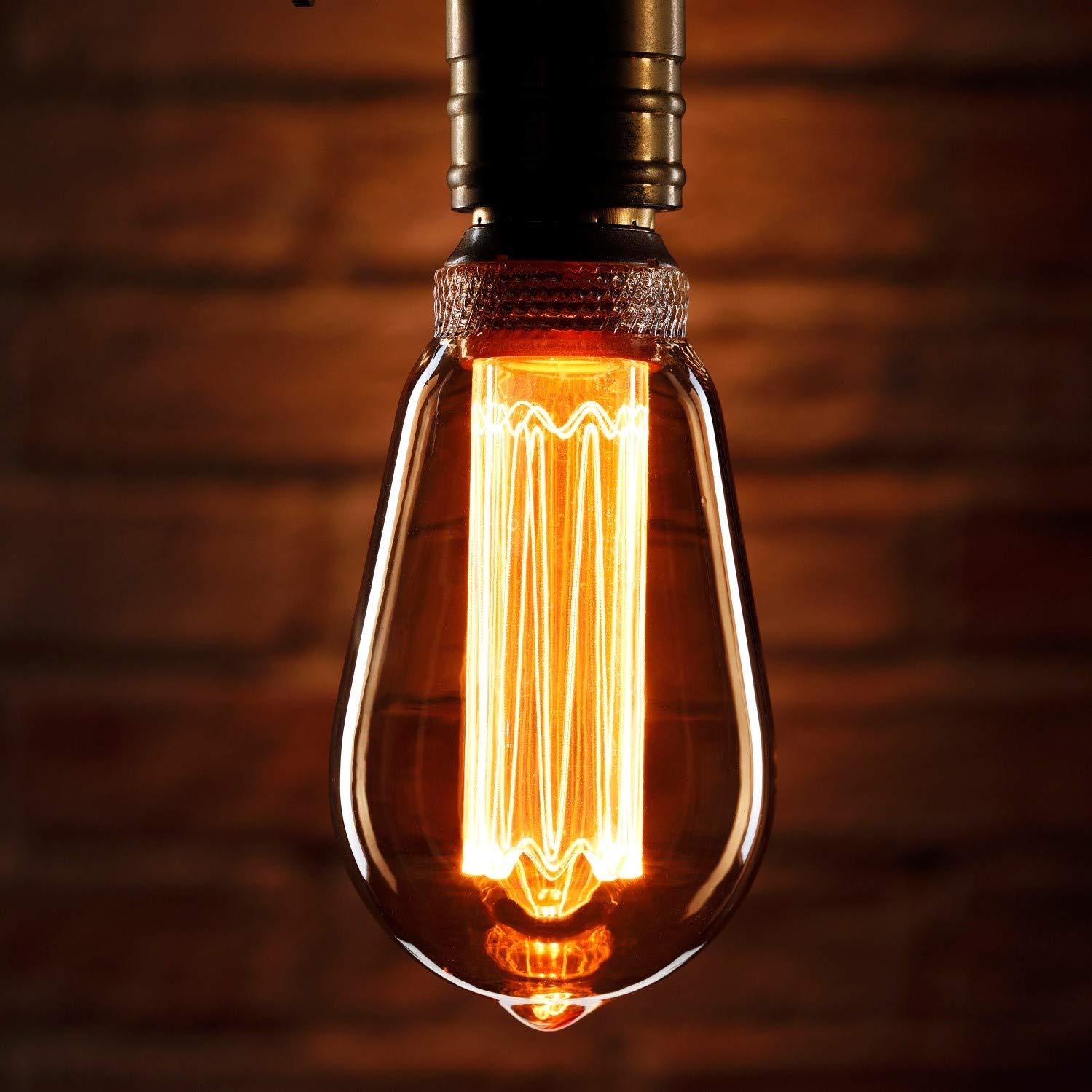 Auraglow Mysa Bombilla LED - Estilo Vintage Retro Filamento Edison ...