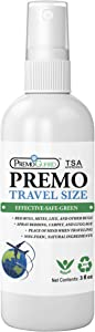Premo Guard Travel Bed Bug & Mite Killer Spray – 3 oz TSA Compliant – Child & Pet Friendly – Fast Acting – Stain & Odor Free – Best Protection – Airport Security Approved – Satisfaction Guarantee