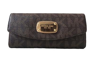 fecd403e6a23 Image Unavailable. Image not available for. Color: Michael Kors Signature  PVC Slim Flap Wallet ...