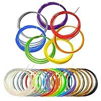 3D Stylo Filament, fil stylo 3d 15 Couleurs PLA Longueur Totale 250 Pieds Pour l'impression 3D,3D Dessin, Diamètre de 1.75mm
