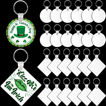 Sublimation Blank Keychains Set 72 Including Round Sublimation Pendants Ornament with Key Chains and Colorful Tassels for DIY Keychain Decoration Crafts Making 36 Pieces