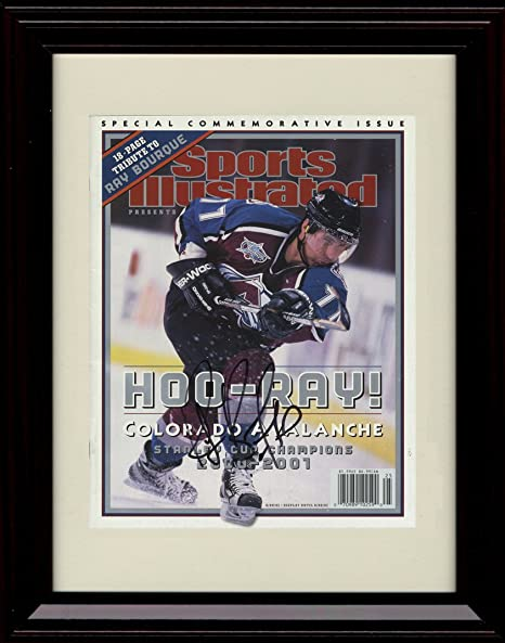 Colorado Avalanche Champs! Framed Ray Bourque Sports Illustrated Autograph Replica Print