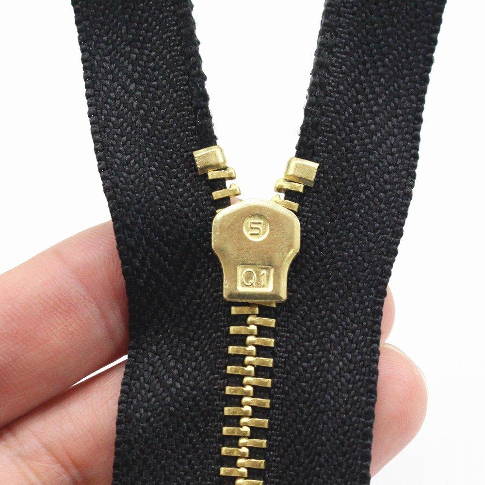 YaHoGa 2 piezas 70 cm #5 separaci/ón cremallera metalica Gran Cremalleras metal para chaqueta coser abrigos 70 cm