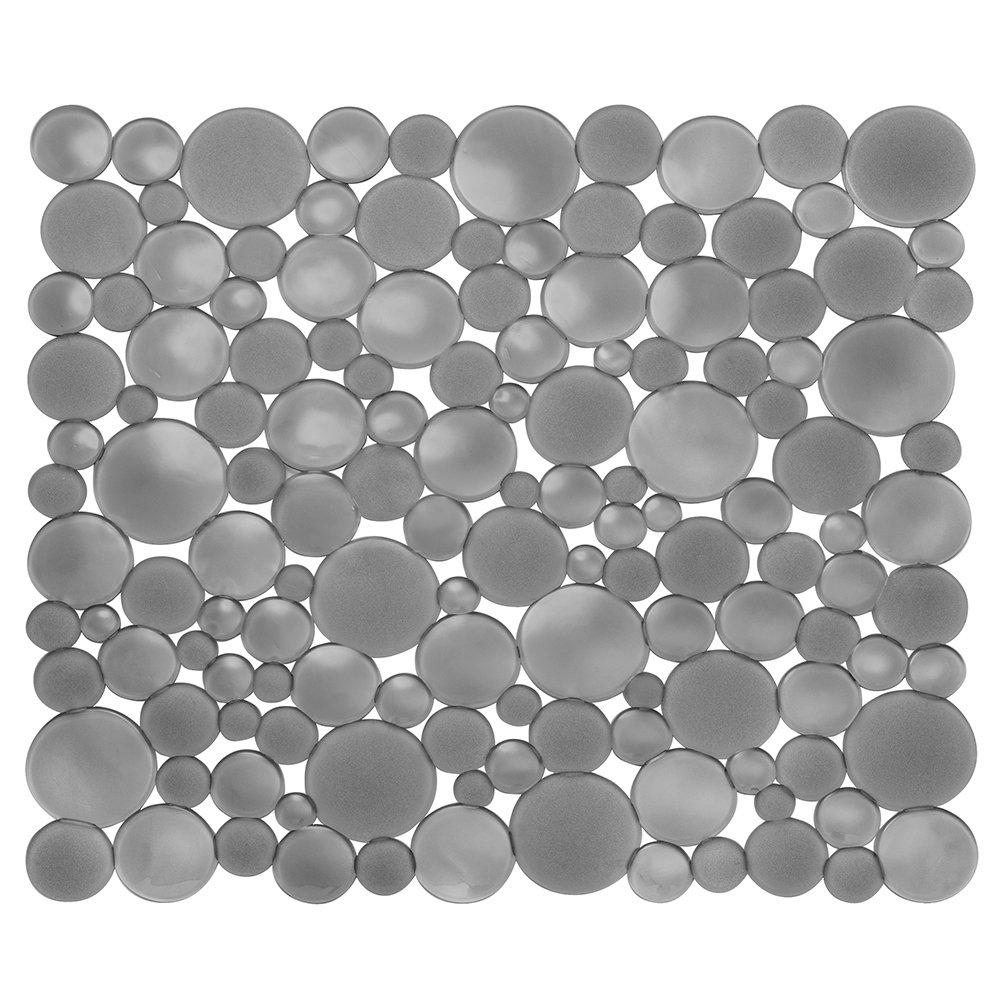 InterDesign Bubbli Kitchen Sink Drain Cover/Strainer, Clear Inc. 09256