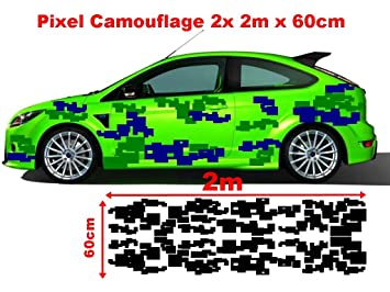 Pixel Cyber Camo 2x 2m Camouflage Camo Einzelne Flecken