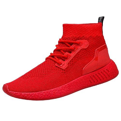 8ac58c9b4068 Chaussures Homme 2018 Nouveau Style Mode Hommes Haute Aide Doux Sole  Chaussures De Course Gym Chaussures