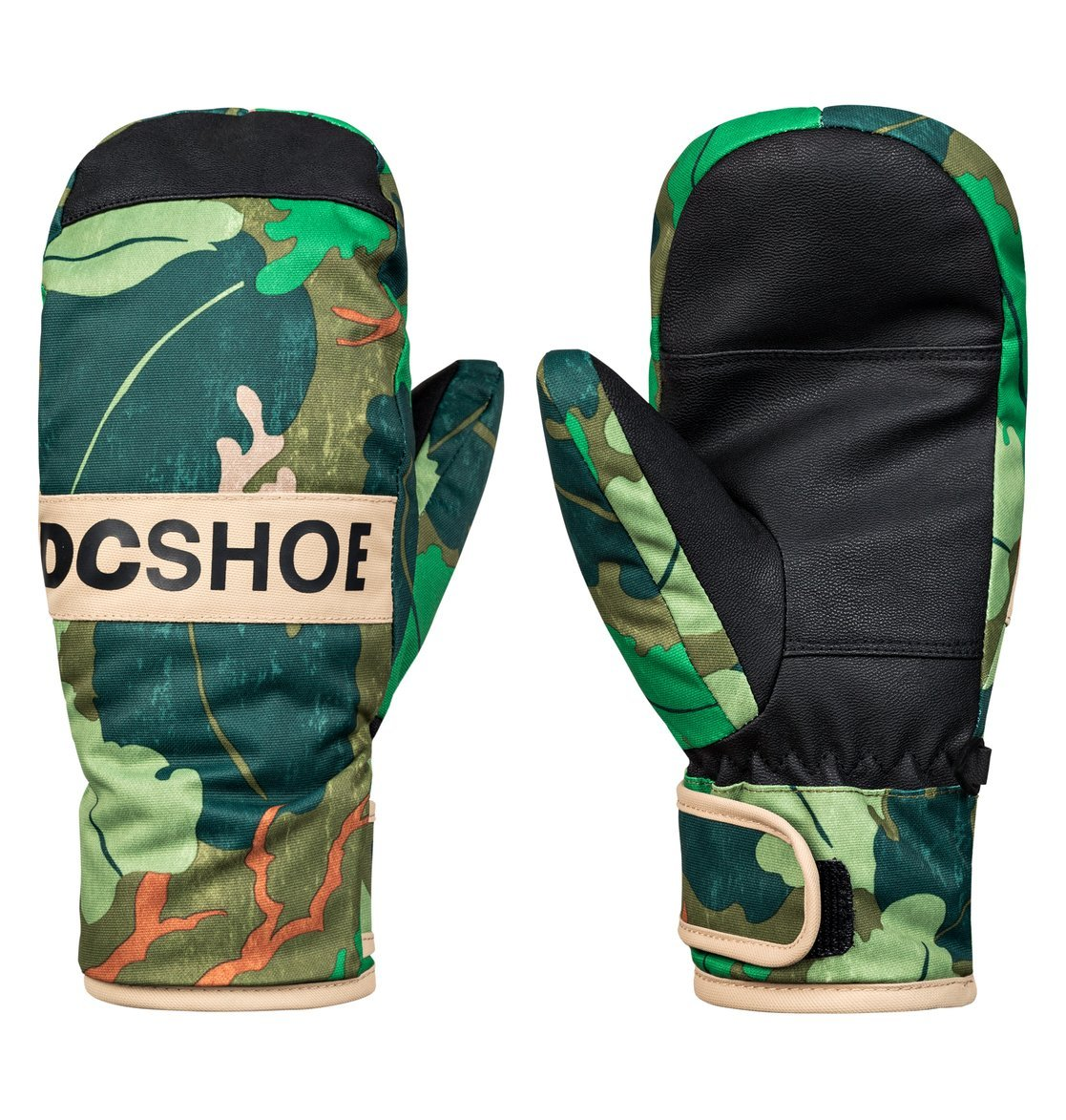DC Big Boys' Franchise Youth Snow Mitt Glove, Chive Leaf Camo Youth, M
