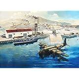フライホークモデル 1/700 イギリス海軍 水上機基地( 水上機,哨戒艇,車両 付属)プラモデル
