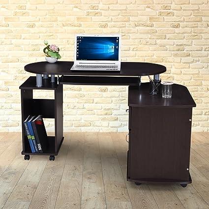 Royaloak Cathy Computer Table (Black)