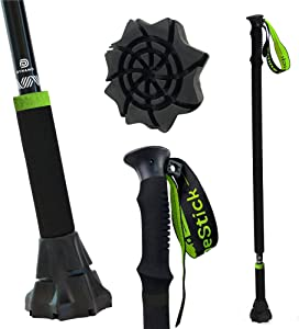 DynamoMe Prime Stick – Best Walking Stick & Cane Ever Made - Throw Out Your Old Canes & Trekking Poles - Features Security Strap, Fully Collapsible, Lightweight Aluminum, Strong Frame