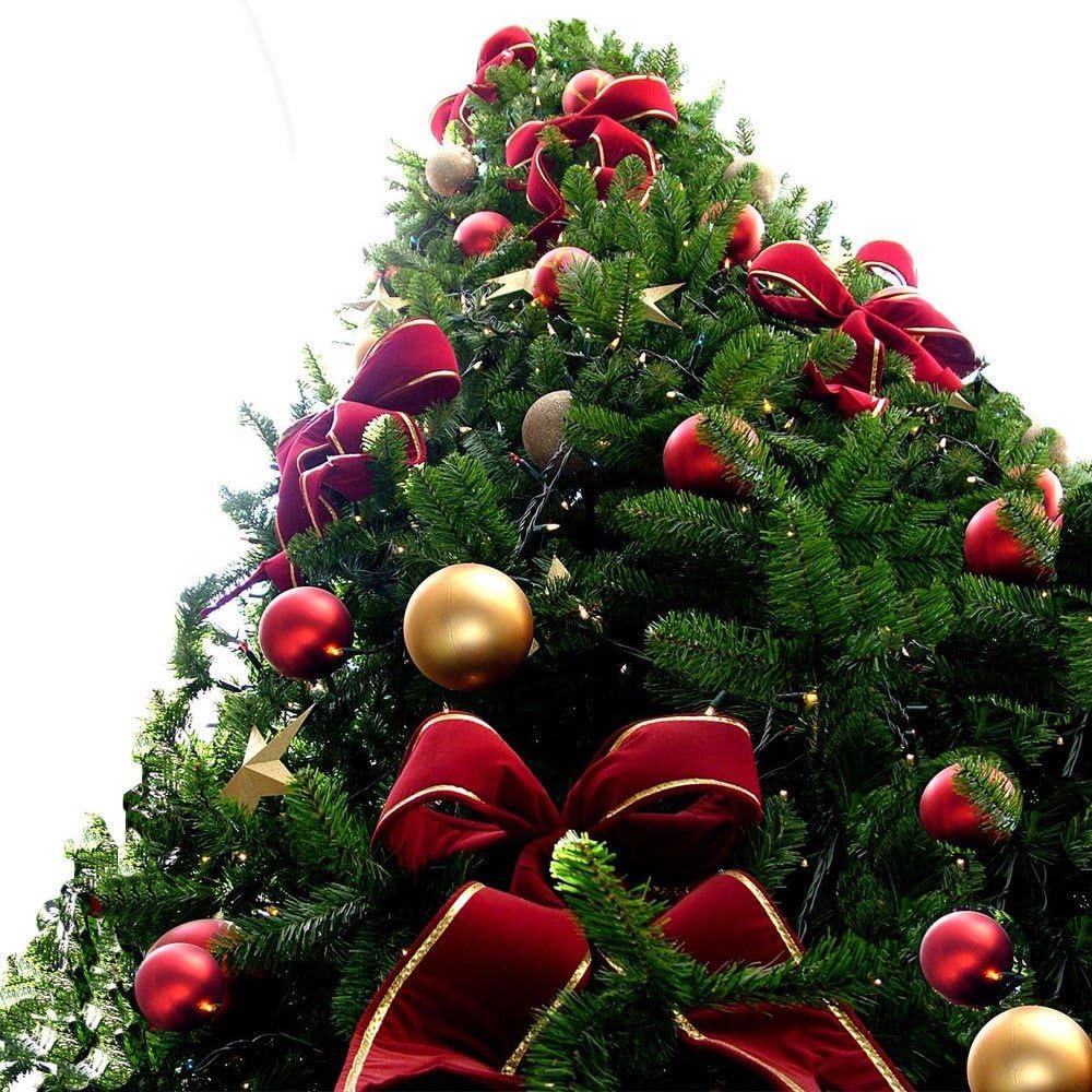 Albero Di Natale Rosso.32 O 48 Palline Decorative Albero Di Natale Oro Rosso Argento Glitterate E Lucid Amazon It Illuminazione