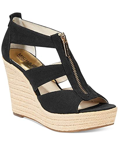 377a6e42478 MICHAEL Michael Kors Damita Wedge Signature Brown  Amazon.ca  Shoes ...