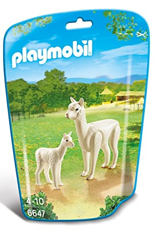 Playmobil 6647 City Life Zoo Alpaca with Baby(Multi-color)