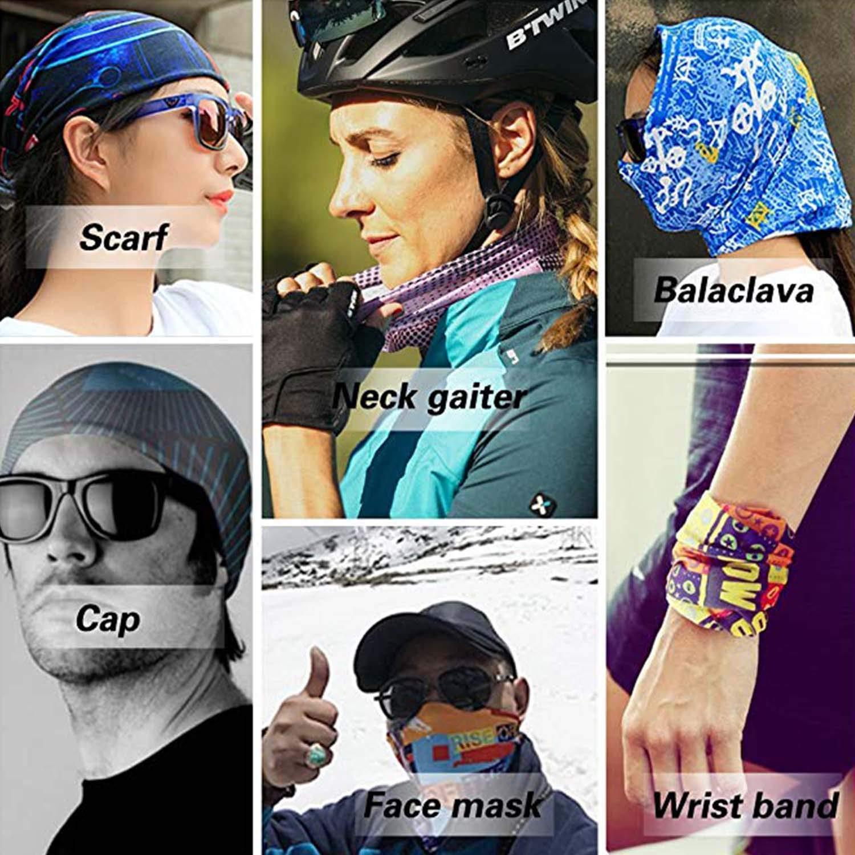 Breathable//Moisture Wicking Llama and Cactus Bandana Balaclava for Cycling Yoga Fishing WITHY Clothing Accessories 16-in-1 Headband Microfiber Sports Headwear