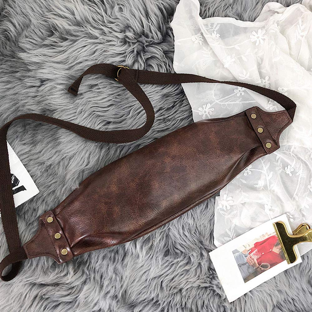 lmx+3f Bag for Unisex Leather Messenger Bag Vintage Neutral Outdoor Zipper Sport Chest Bag Waist Bag Totes Hat Bag