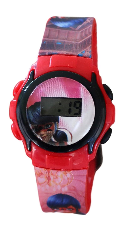 Marvel Miraculous: reloj infantil digital de cuarzo; motivo serie Miraculous, Ladybug y Cat Noir: Amazon.es: Relojes