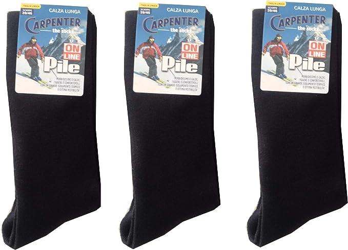 Carpenter 3 Paia Calze Calzini Corti Uomo Pile Termiche Tinta Unita Sci